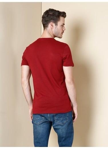 Colin's V Yaka T-Shirt Bordo
